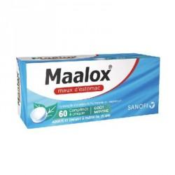 Maalox maux d'estomac 60 comprimés à croquer