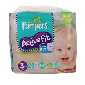 Pampers active fit de 4à 9 kg  28 couches
