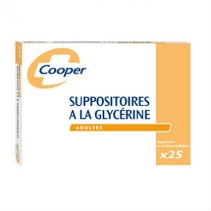 Cooper 25 suppositoires à la glycérine