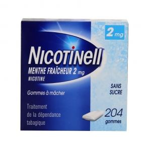 Nicotinell menthe fraicheur 2 mg 204 gommes à mâcher