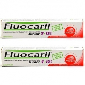 Fluocaril junior 7-12ans gel fruits rouges duo 50ml