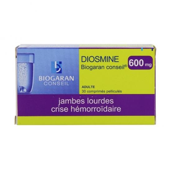 Diosmine biogaran conseil 600mg comprimé 30 comprimés pelliculés