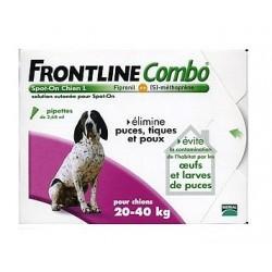 Merial frontline combo pour chien de 20 à 40kg 6 pipettes