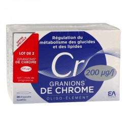 EA Pharma Granions de chrome 60 ampoules