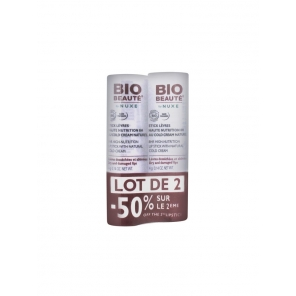 Bio Beauté Stick Lèvres Haute Nutrition 8H au Cold Cream Naturel 4g Lot de 2 Sticks