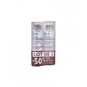 Bio Beauté Stick Lèvres Haute Nutrition 8H au Cold Cream Naturel 4g Lot de 2 Sticks