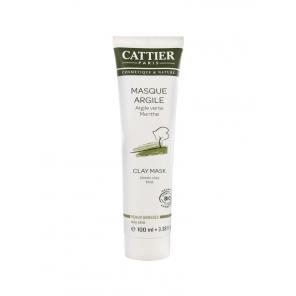 Cattier Masque Argile Verte Peaux Grasses 100 ml