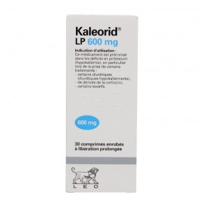 Kaleorid lp 600mg cpr b/30
