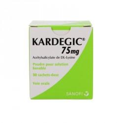 Kardegic 75mg poudre pour solution buvable 30 sachets doses de 153,45mg