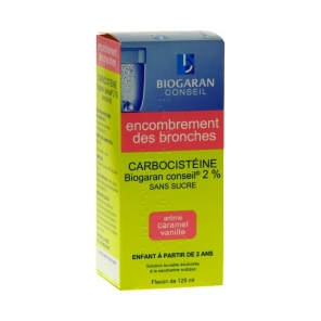 Biogaran Conseil Carbocisteine 2% sans sucre 125 ml