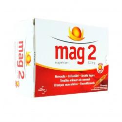 Mag 2 Sans Sucre 122 mg solution buvable 30 ampoules édulcorées de 10ml