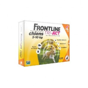 Frontline tri-act chiens 5-10 kg 6 pipettes