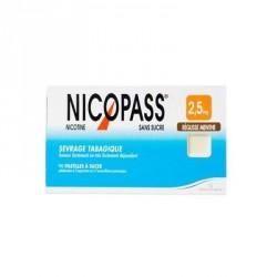 Nicopass sans sucre réglisse menthe 2.5 mg 96 pastilles
