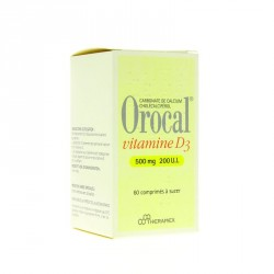 Orocal Vitamine D3 500mg/200UI 60 comprimés