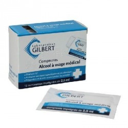 Alcool médical Gilbert compresse 2.5 ml