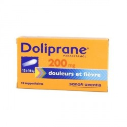 Doliprane 200mg Suppositoire x10 suppositoires