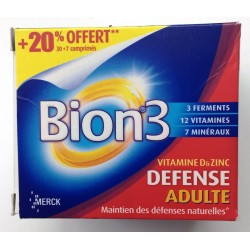 Merck Bion 3 Adultes 30 Comprimés + 7 comprimés OFFERT