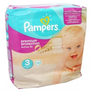 Pampers active fit premium 4-9kg x28 couches