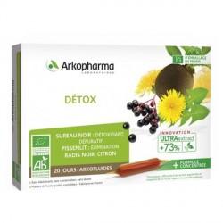 Arkofluide bio peau detox 20x10ml ampoules