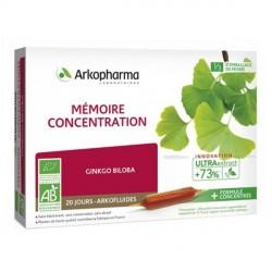 Arkofluide bio peau mémoire - concentration 20x10ml ampoules