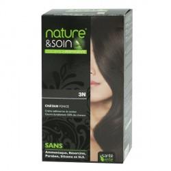 Santé Verte nature & soin coloration permanente châtain foncé 3N 129ml