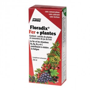 Salus Floradix boisson fer + plantes 250ml