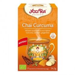 Yogi tea infusion chai curcuma boite de 17 sachets