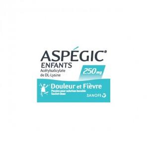 Aspégic enfants poudre pour solution buvable 100mg 20 sachets-doses
