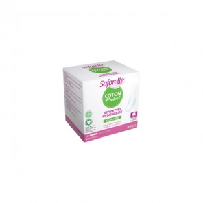 Saforelle serviettes hygiéniques coton bio nuit boite de 10
