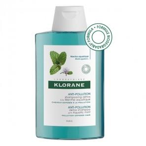 Klorane shampooing détox à la menthe aquatique 200ml