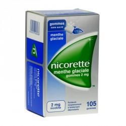 Nicorette Menthe Glaciale 2Mg Sans Sucre 105 Gommes à Mâcher