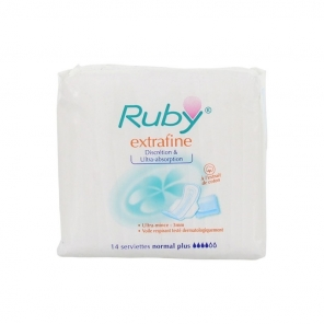 Ruby extrafine normal plus 14 serviettes