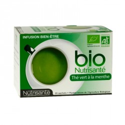 Bio Nutrisanté thé vert à la menthe 20 sachets